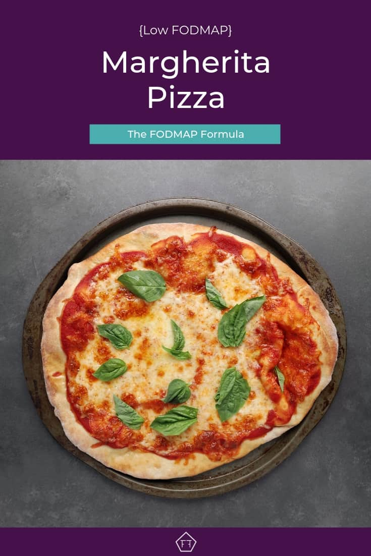 Low FODMAP Margherita Pizza - Pinterest 1