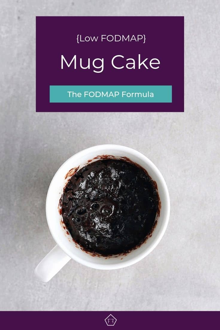 Low FODMAP mug cake in cup - Pinterest 3