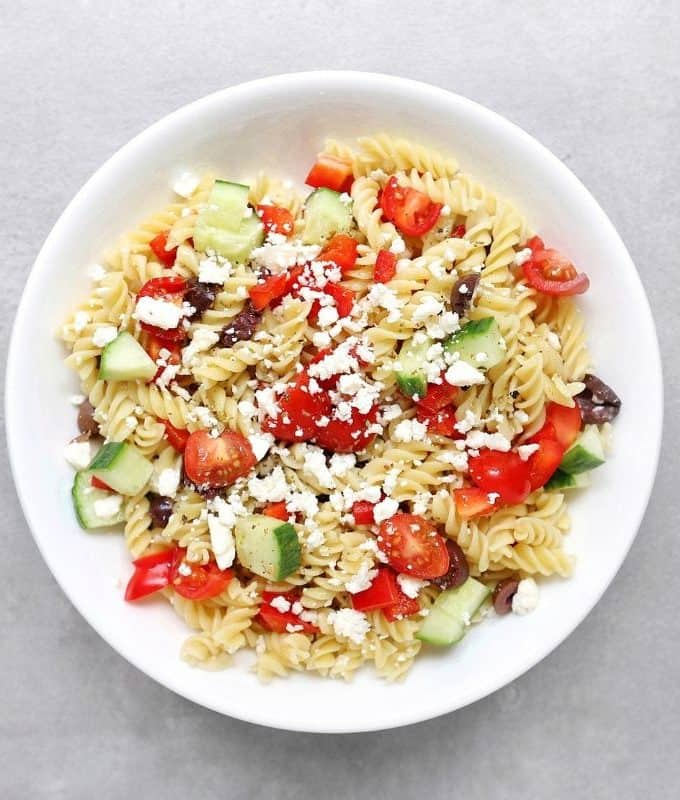 Low FODMAP Pasta Salad - Feature Image