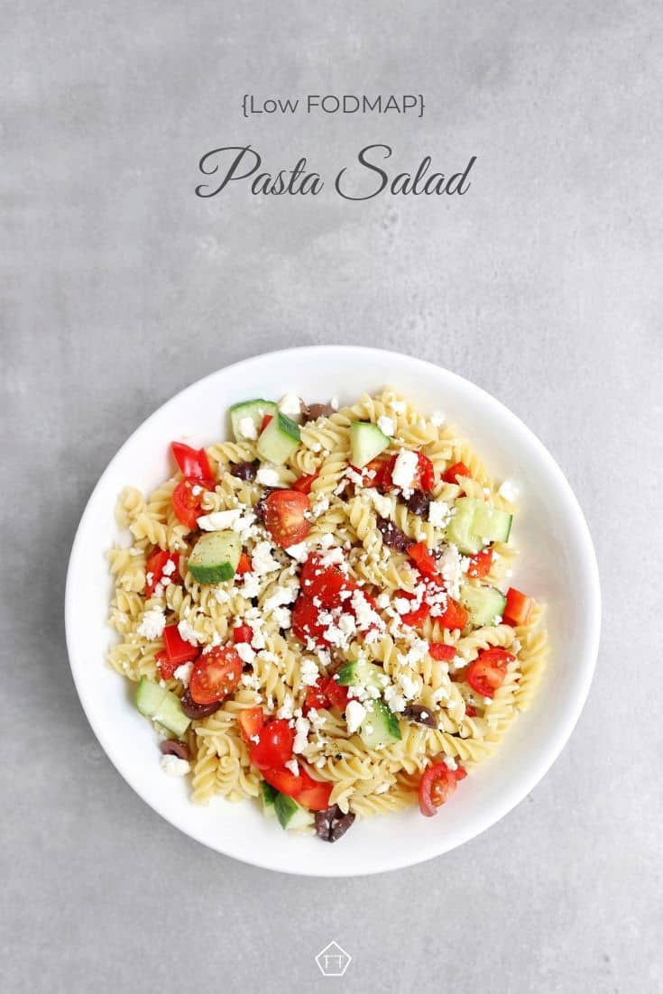 Low FODMAP Pasta Salad - Pinterest 2