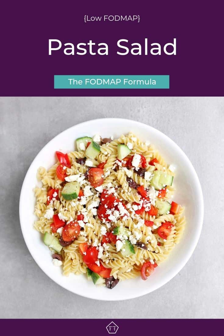 Low FODMAP Pasta Salad - Pinterest 3