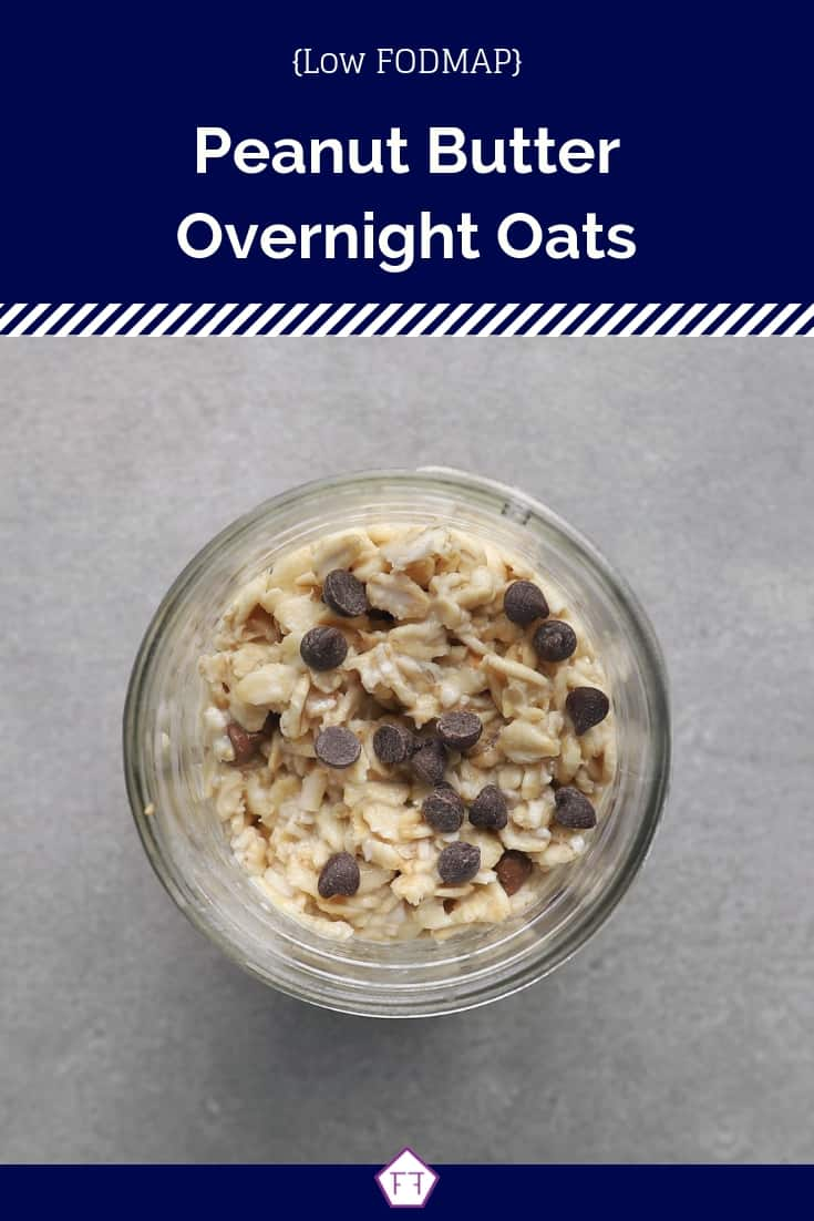 Low FODMAP Overnight Oats in Jar - Pinterest 1