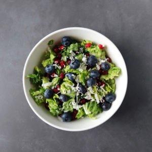 Low FODMAP Pomegranate Salad in bowl