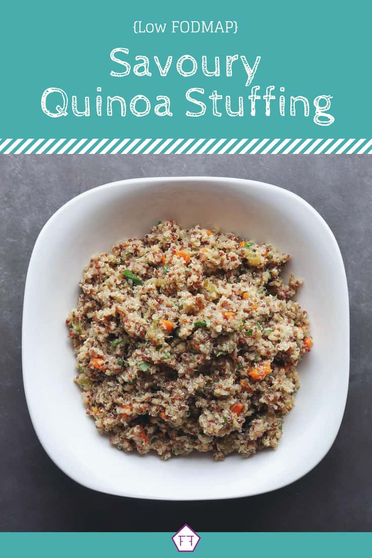Low FODMAP Quinoa Stuffing