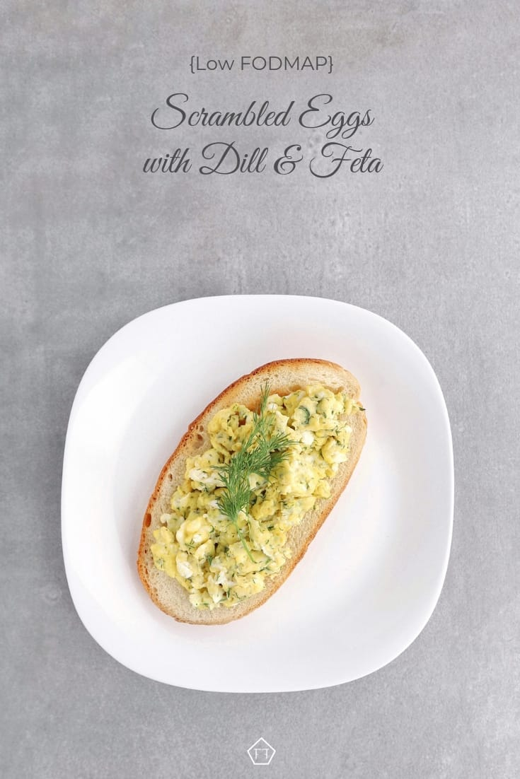Low FODMAP Scrambled Eggs with Dill and Feta - Pinterest 3