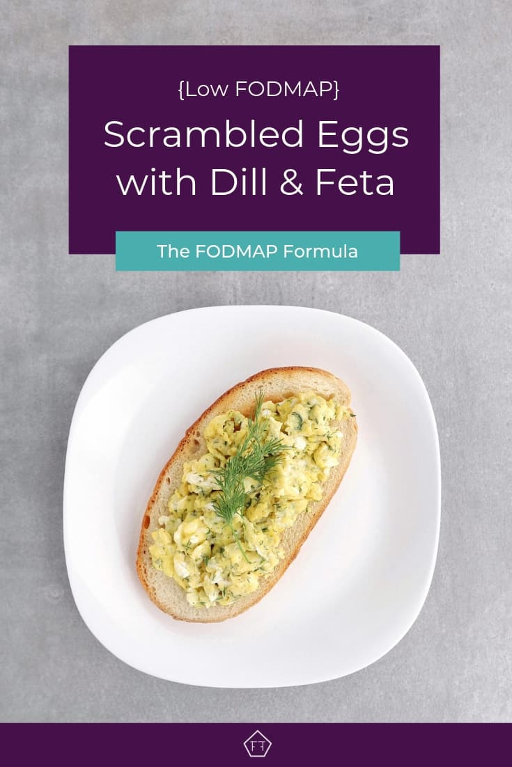 Low FODMAP Scrambled Eggs with Dill and Feta - Pinterest 4