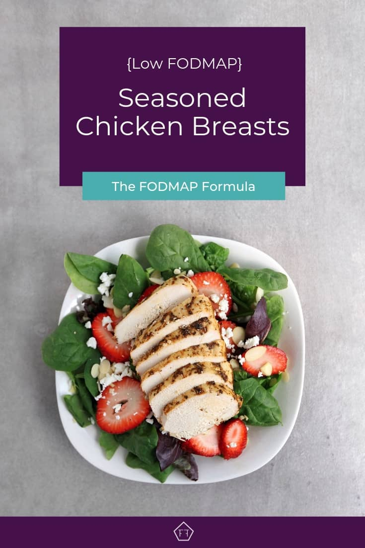 Low FODMAP Seasoned Chicken Breast - Pinterest 1