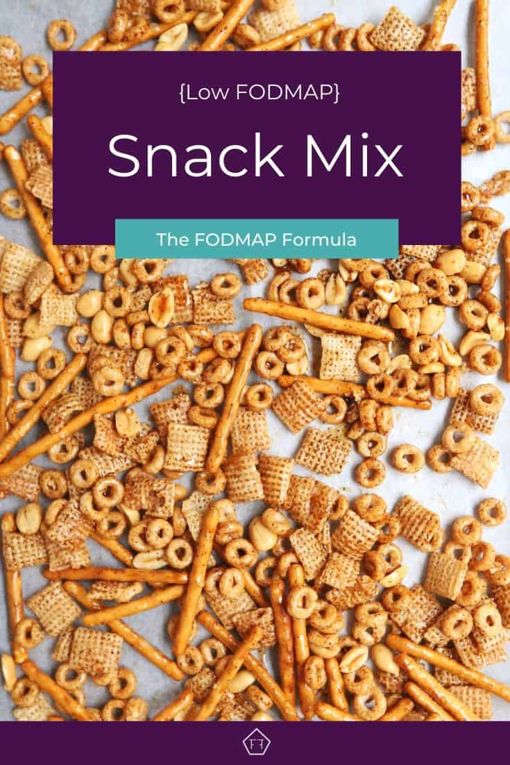 Low FODMAP Snack Mix on tray