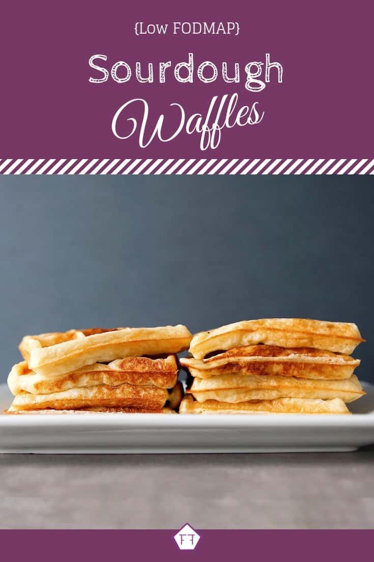 Low FODMAP sourdough waffles on plate