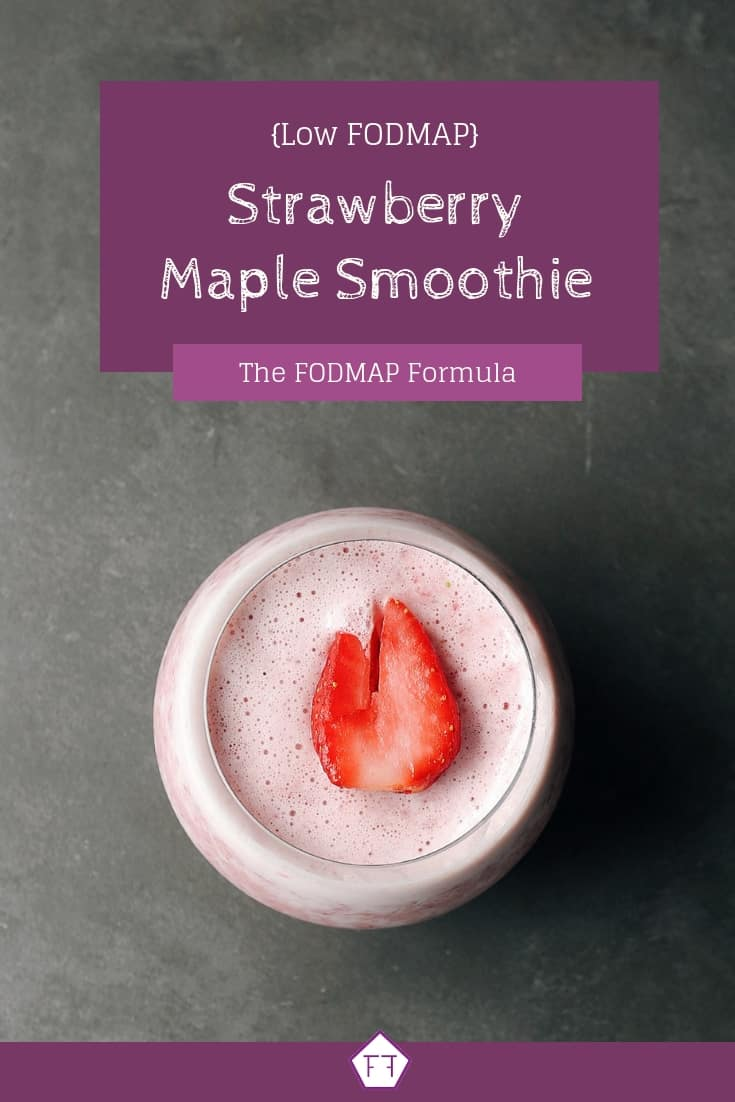 Low FODMAP Strawberry Smoothie - Pinterest (1)