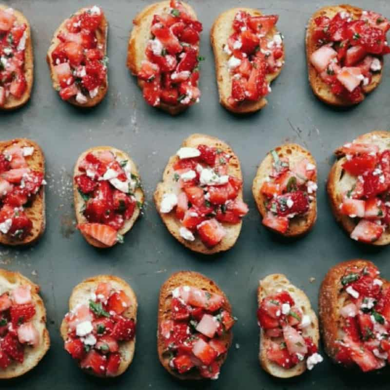 Low FODMAP Summer Bruschetta Bites
