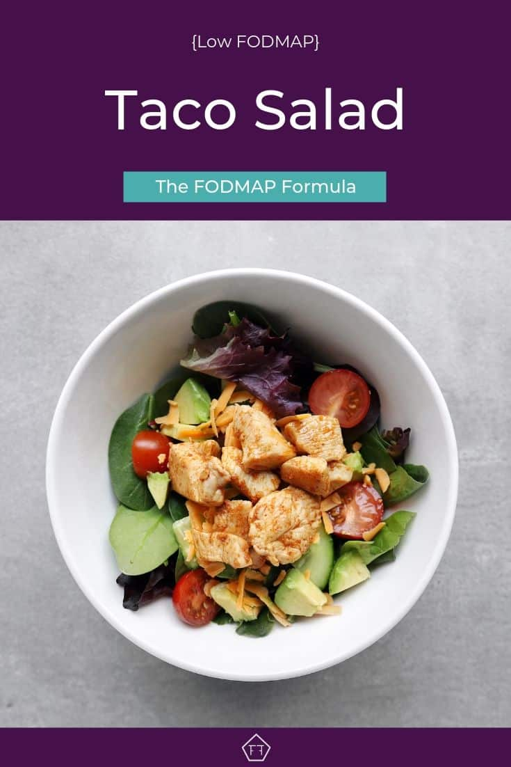 Low FODMAP Taco Salad in bowl - Pinterest 2