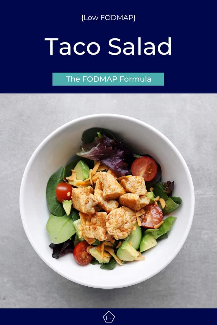 Low FODMAP Taco Salad in bowl - Pinterest 3