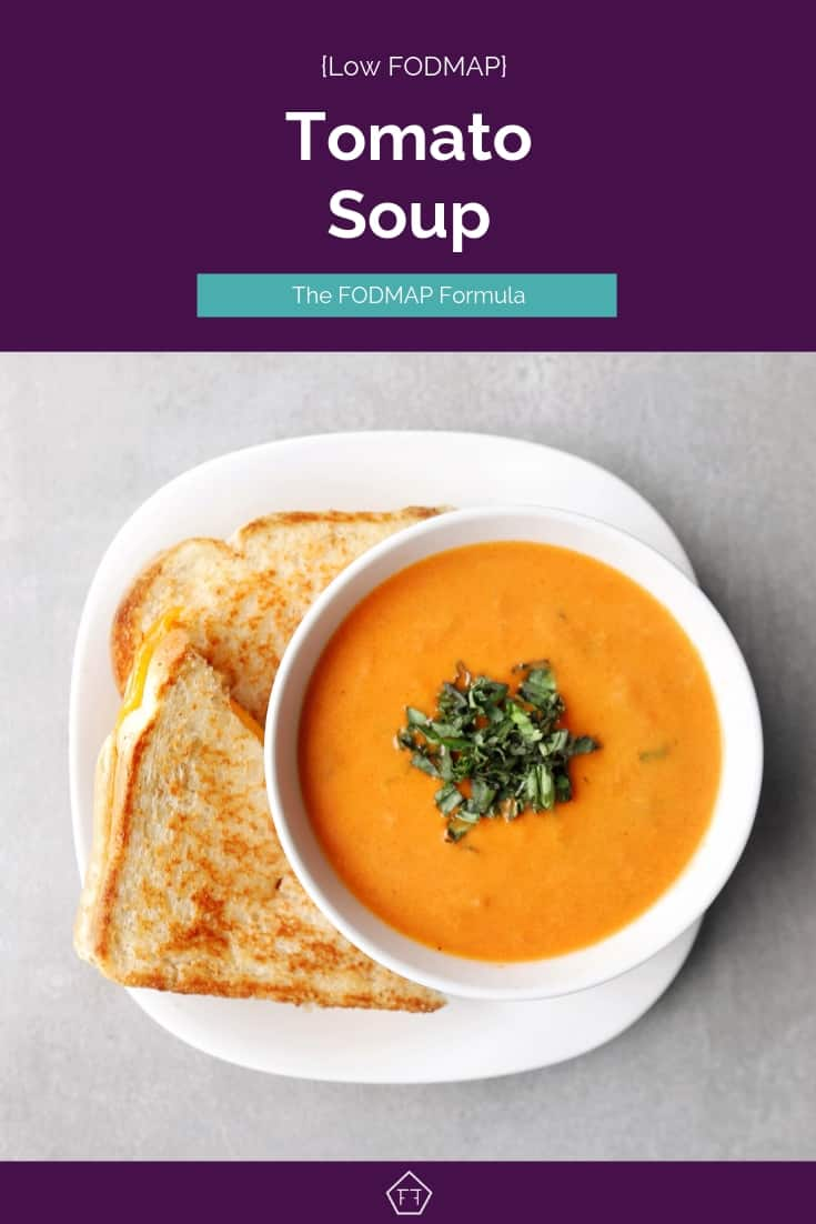 Low FODMAP tomato soup and sandwich - Pinterest 4