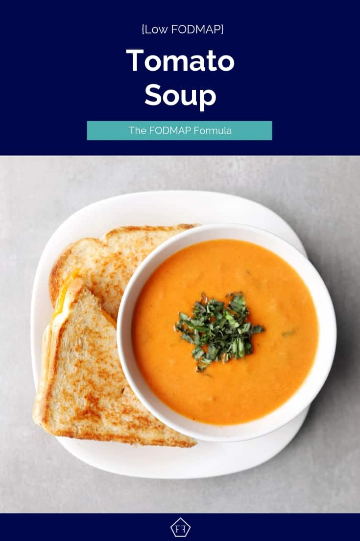 low FODMAP tomato soup with sandwich - Pinterest 5