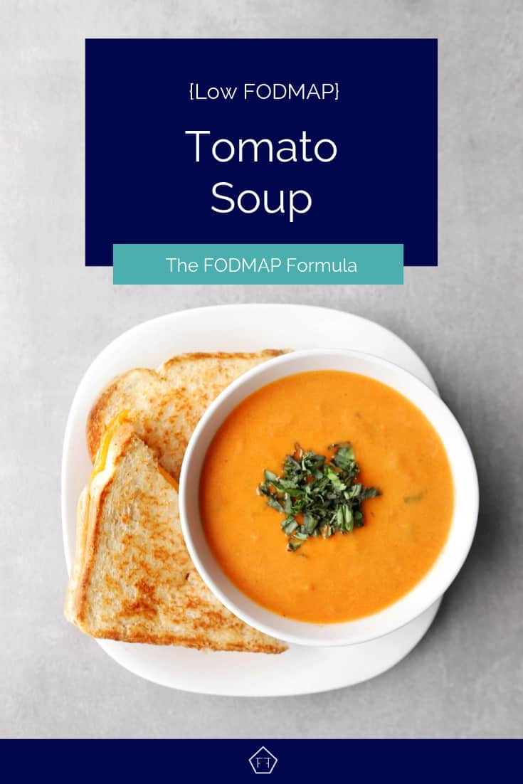 Low FODMAP tomato soup with sanwdich - Pinterest 7