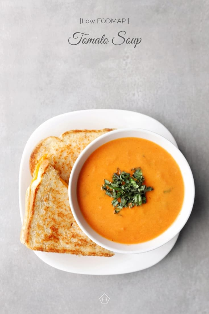 Low FODMAP tomato soup and sandwich - 735 x 1102