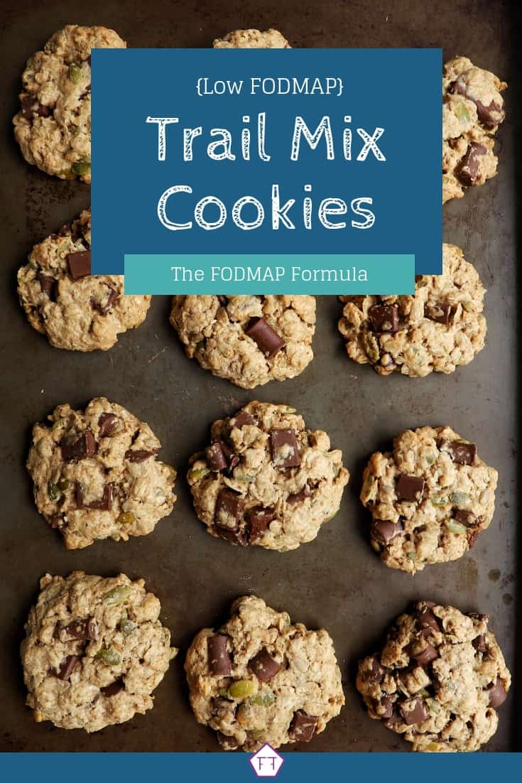Low FODMAP Trail Mix Cookies (Blue and Green)
