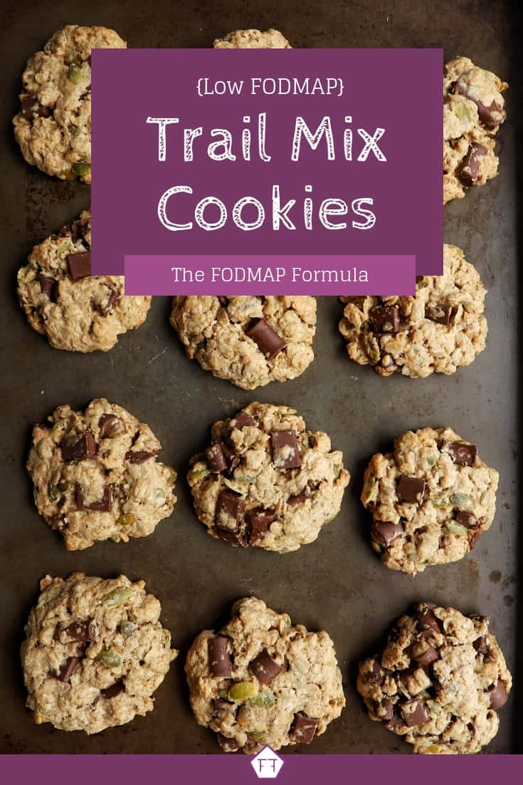 Low FODMAP Trail Mix Cookies (purple)