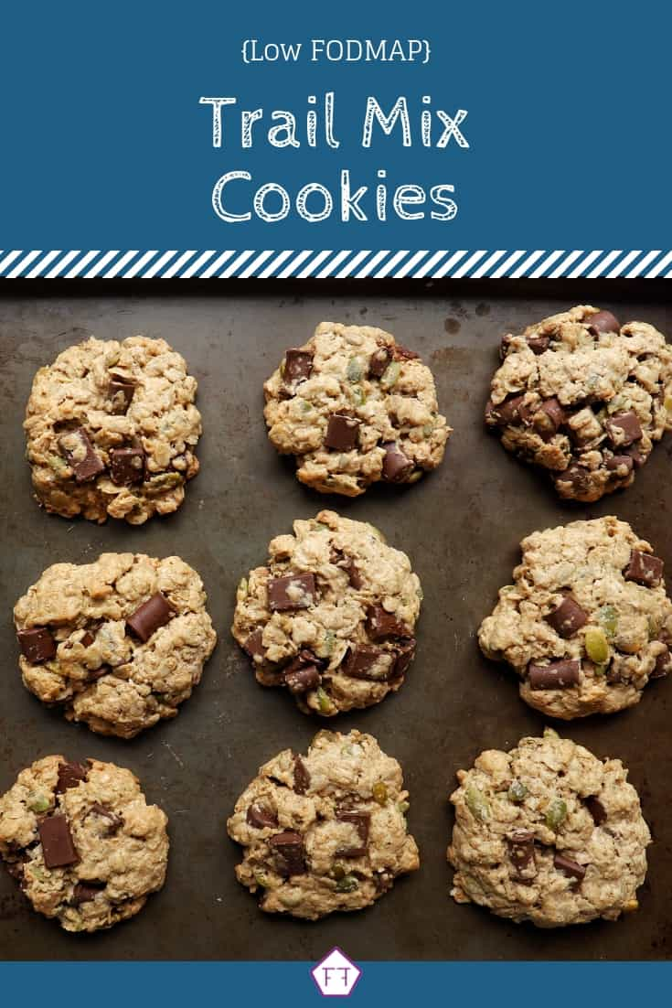 Low FODMAP Trail Mix Cookies (blue)