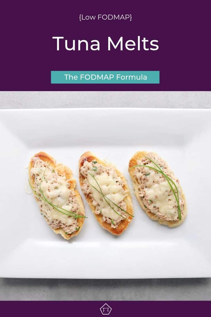 Low FODMAP Tuna Melts - Pinterest 1