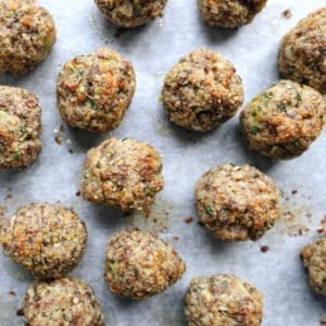 Low FODMAP Turkey Meatballs on Tray - 800 x 800