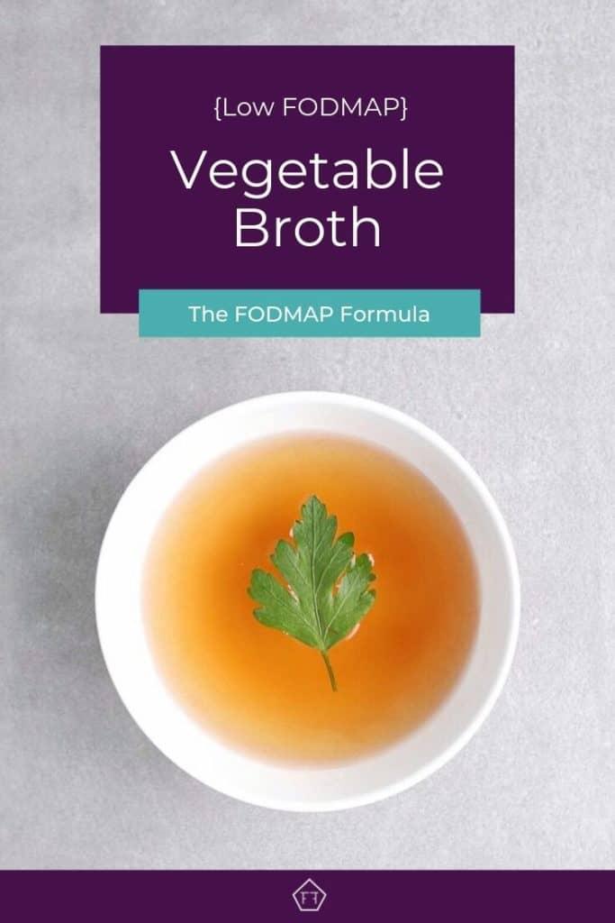 Low FODMAP vegetable broth with parsley leaf