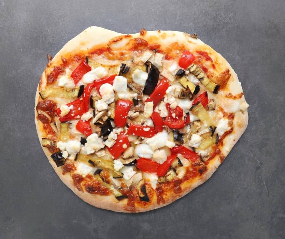 Low FODMAP Veggie Pizza