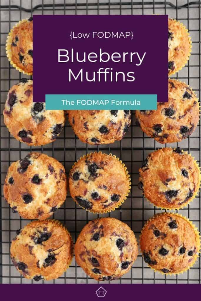 Pin 3 - blueberry muffins on wire rack