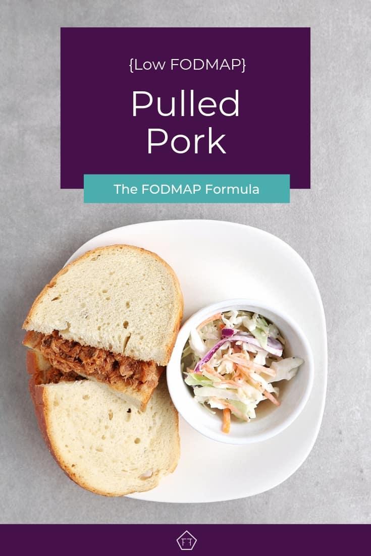 Low FODMAP Pulled Pork Sandwich on Plate - Pinterest 4