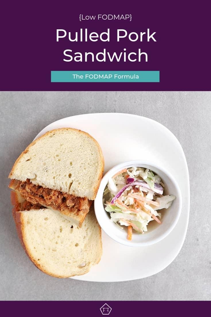 Low FODMAP Pulled Pork Sandwich on Plate - Pinterest 3
