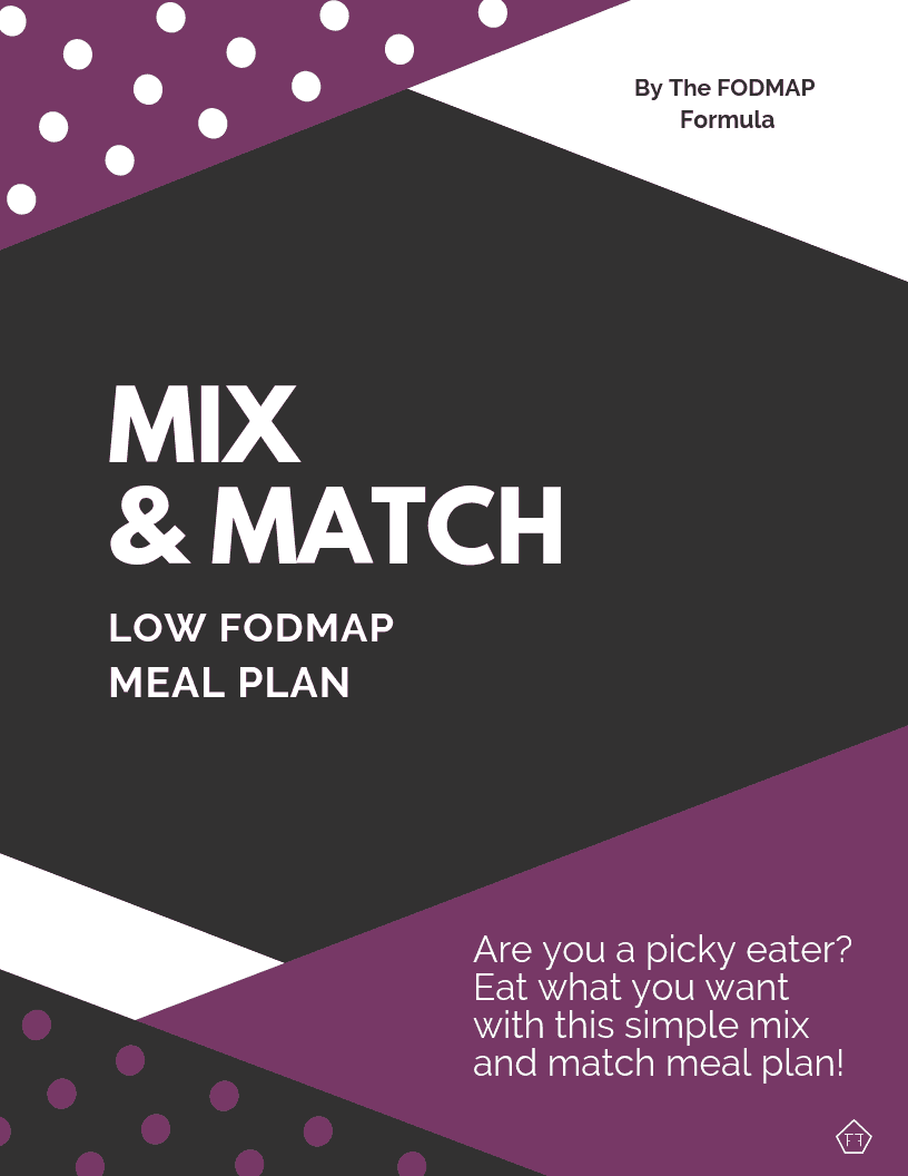 Mix and Match Low FODMAP Meal Plan eBook cover
