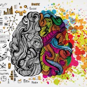 Artistic Drawing of Brain