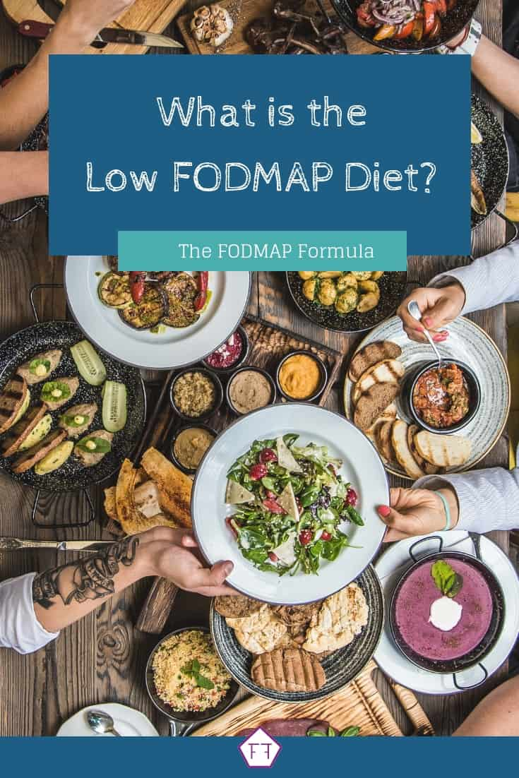 Dinner Table with Text Overlay: What is the Low FODMAP Diet?